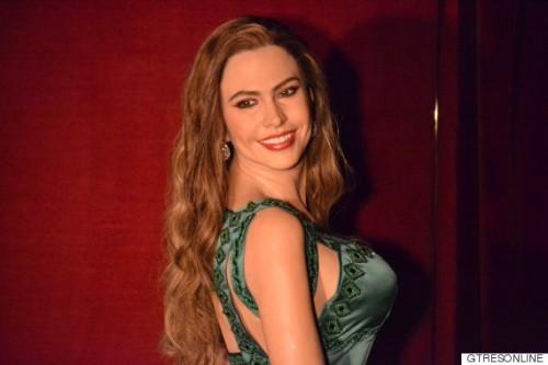 Figura de cera de la actriz Sofía Vergara en el Museo de Cera de Madrid 18/11/2015