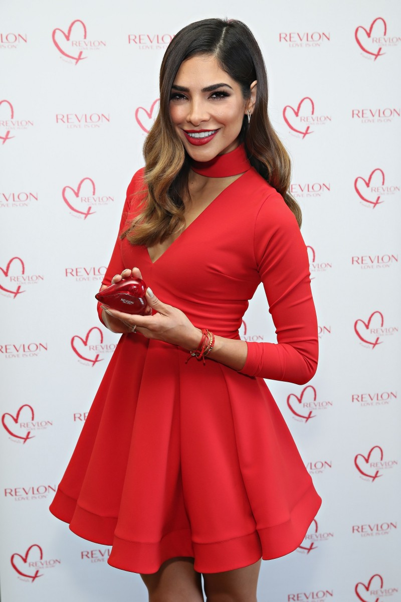 NEW YORK, NY - OCTOBER 14: Revlon Global Brand Ambassador Alejandra Espinoza introduces Revlon's new LOVE IS ON Eau De Toilette fragrance on October 14, 2015 in New York City. (Photo by Cindy Ord/Getty Images for Revlon)