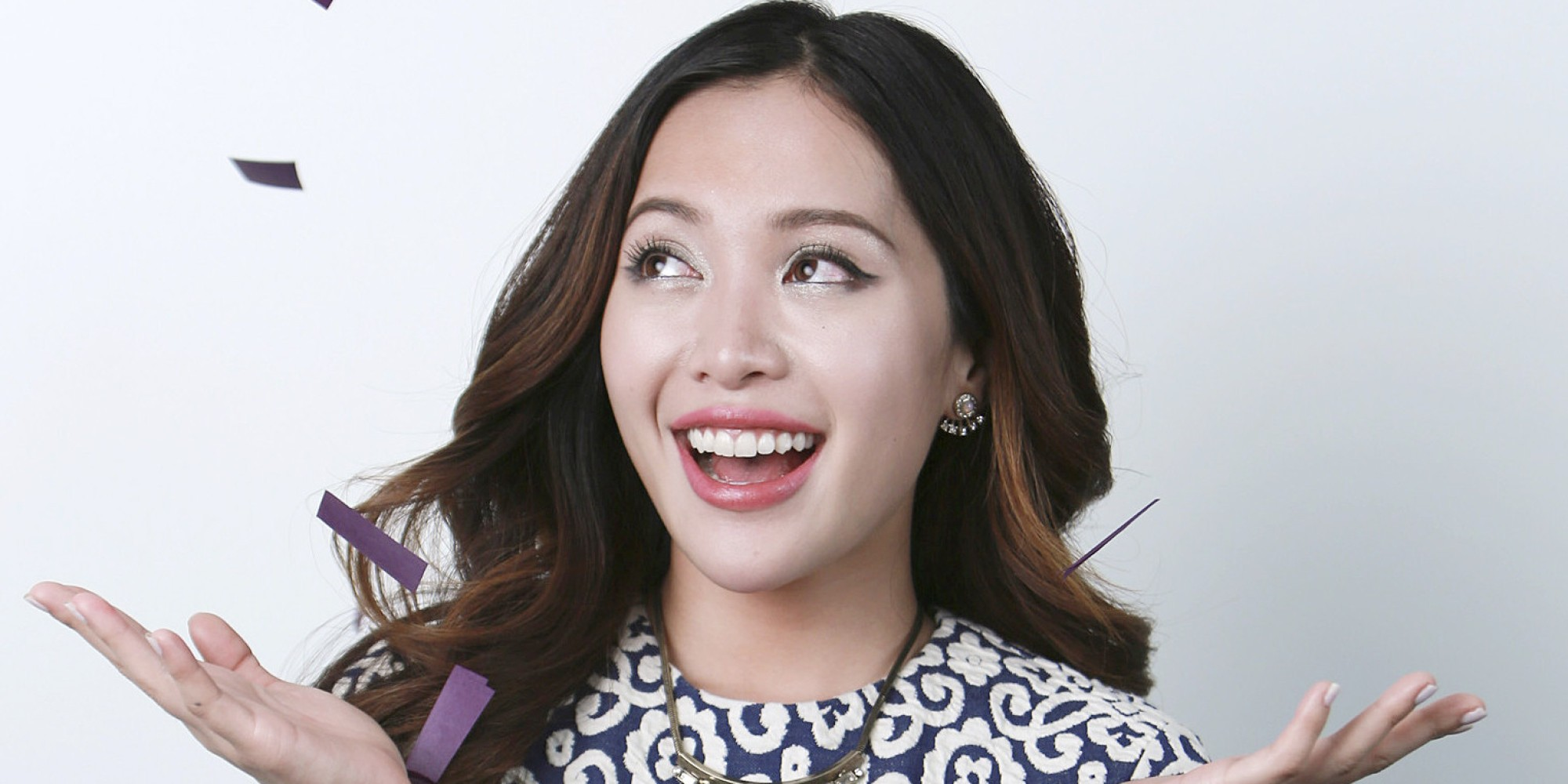 YouTube personality best known for her make-up demonstrations, Michelle Phan poses for a portrait on Tuesday, March 31, 2015 in New York. (Photo by Amy Sussman/Invision/AP)
