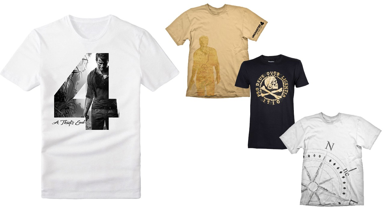 merchandising oficial de Uncharted 4 - Camisetas