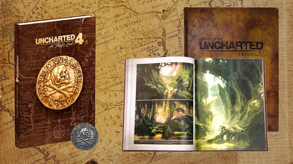 merchandising oficial de Uncharted 4 - Guía y libro de arte