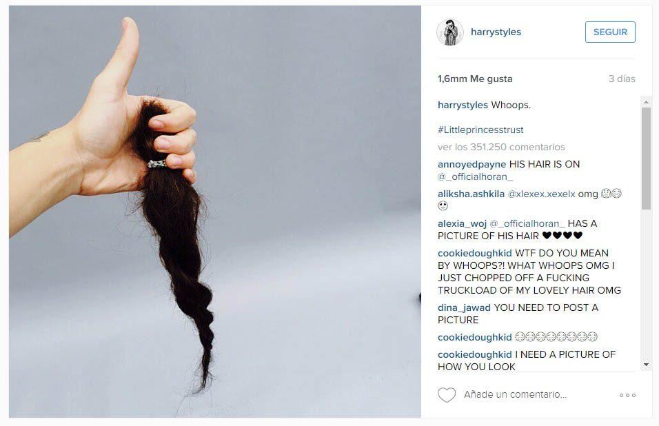 Harry Styles dice adiós a su pelazo por una buena causa - BUHO
