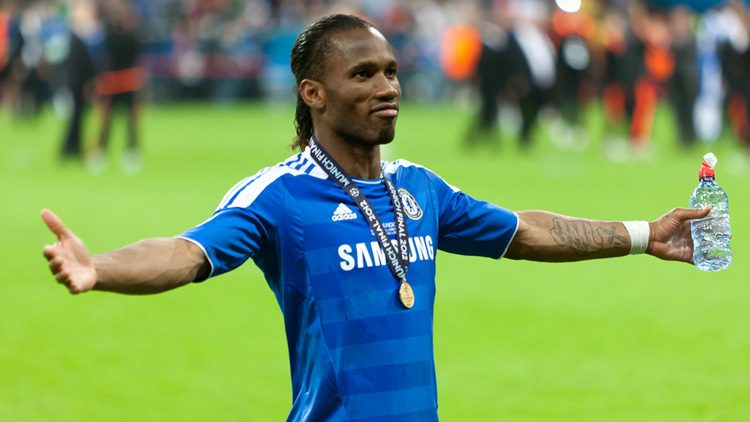 Futbolistas más top de las últimas finales de la Champions. Didier Drogba (Chelsea FC)