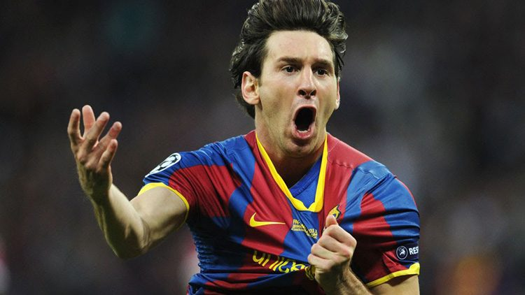 Futbolistas más top de las últimas finales de la Champions. Lionel Messi (FC Barcelona)
