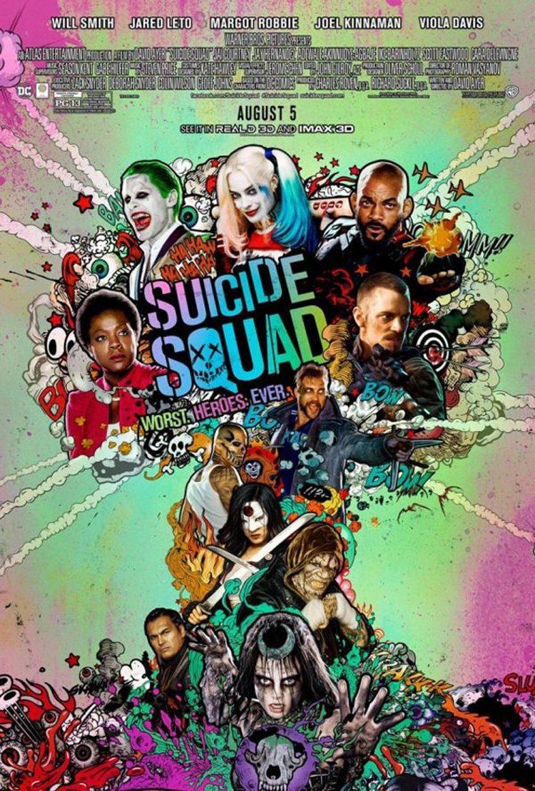 Warner Bros. Pictures lanza un nuevo, llamativo y colorido póster de Escuadrón Suicida.