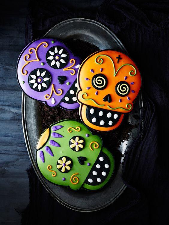 postres halloween cookies