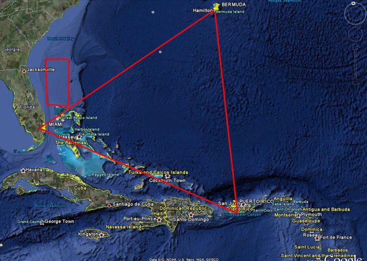 Ubicación del Triángulo de las Bermudas