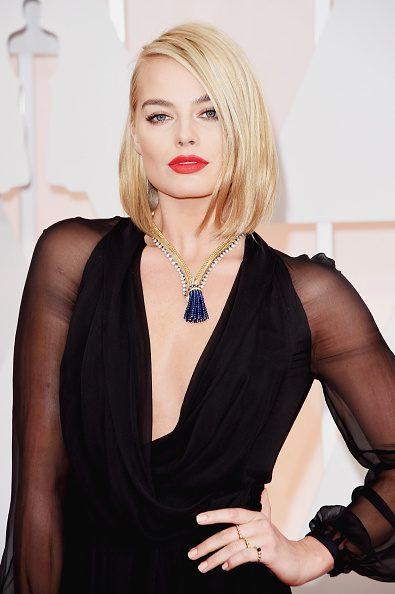 Margot Robbie de rubio platino