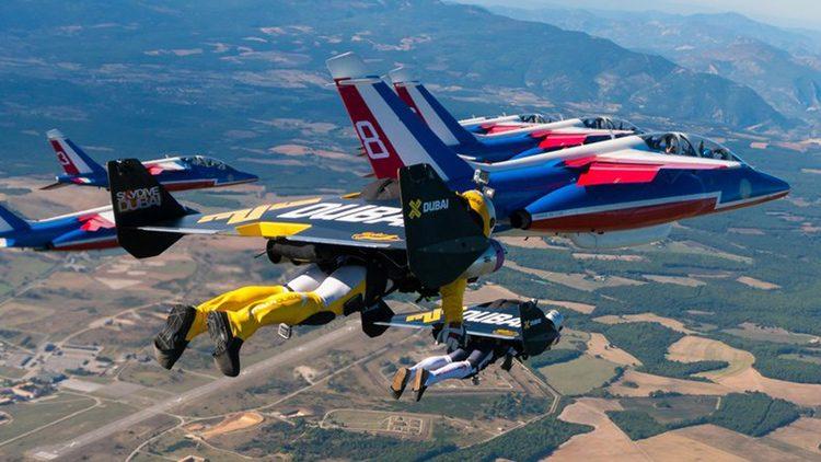 Gesta aérea de tres jetman