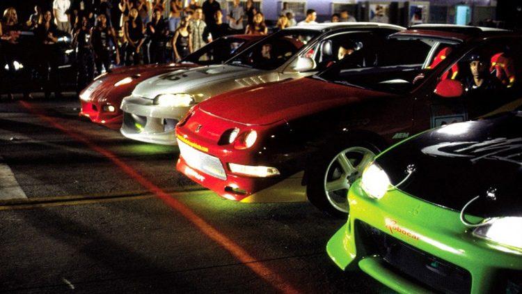 Carreras ilegales con coches tuning