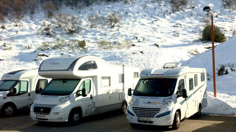 Caravanas para ir a la nieve