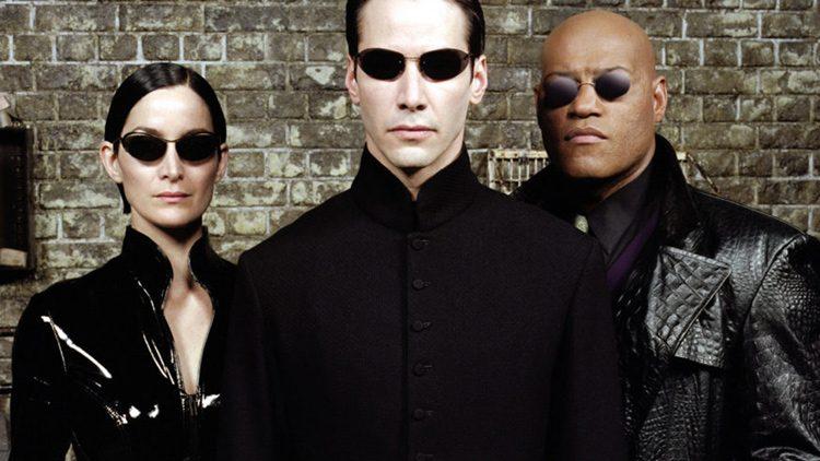 Neo, Trinity y Morfeo en Matrix