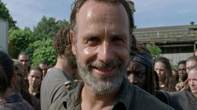 Sonrisa de Rick al final del episodio noveno de la séptima temporada