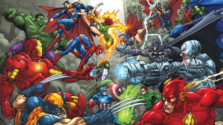 Marvel vs. DC, la eterna batalla por la supremacia de los superhéroes en el cine, TV y los cómics.