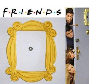marco puerta Friends en amarillo