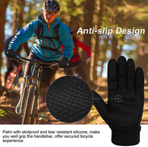 guantes negros bici