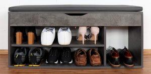 banco organizador zapatos entrada
