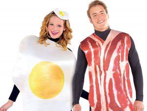 disfraz huevo frito y bacon